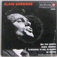 Discos de vinilo: ALAIN BARRIERE - ERA TAN BONITA - SINGLE. Lote 254484810