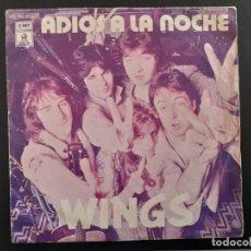 Discos de vinilo: PAUL MCCARTNEY. WINGS. SINGLE ESPAÑA . ADIOS A LA NOCHE. GOODBYE TONIGHT. ODEON1979 BEATLES. Lote 254493990