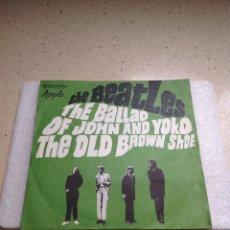 Discos de vinilo: THE BEATLES-THE BALLAD OF JOHN AND YOKO-THE OLD BROWN SHOE. Lote 254505175