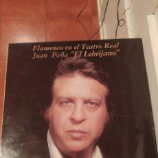 Discos de vinilo: LP LEBRIJANO EN TEATRO REAL. Lote 254509030