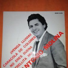 Discos de vinilo: ANTONIO MOLINA. VENGA LLUVIA. ODEON EMI 1967. Lote 254510880
