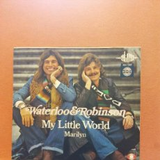 Disques de vinyle: SINGLE. WATERLOO & ROBINSON. MY LITTLE WORLD. EUROVISION. Lote 254518980