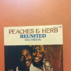 Disques de vinyle: SINGLE. PEACHES & HERB. REUNITED. POLYDOR. Lote 254523010
