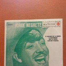 Disques de vinyle: SINGLE. JORGE NEGRET. RCA. Lote 254526075