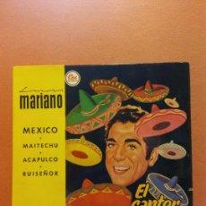 Disques de vinyle: SINGLE. LUIS MARIANO. EL CANTOR DE MÉXICO. EMI. Lote 254526235