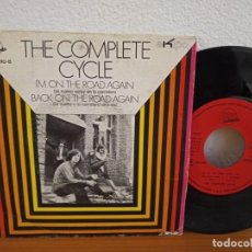 Discos de vinilo: THE COMPLETE CYCLE - I'M ON THE ROAD AGAIN + BACK ON THE ROAD AGAIN - EXIT (1971) HOJA PRENSA PROMO!. Lote 254526525