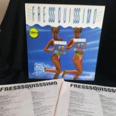 Discos de vinilo: 2XLP IMPECABLE, VARIOUS - FRESSSQUISSSIMO (2XLP, COMP), INSERTS ORIGINALES, ESPAÑA 1989. Lote 254530725