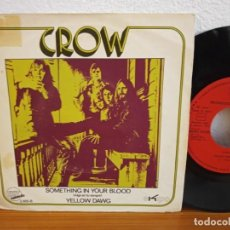 Discos de vinilo: CROW - SOMETHING IN YOUR BLOOD + YELLOW DAWG - EXIT RECORDS (1971) PROMOCIONAL. Lote 254535050