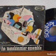 Discos de vinilo: THE MONCKENMIER ENSEMBLE - GOLDEN WINGS + CRY THE RAIN DOWN - SONOPLAY (1967) RARO PSICODELIA 60'S. Lote 254535455