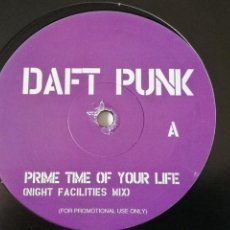 Disques de vinyle: DAFT PUNK / BOOSTA - PRIME TIME OF YOUR LIFE / LAST. Lote 254546000