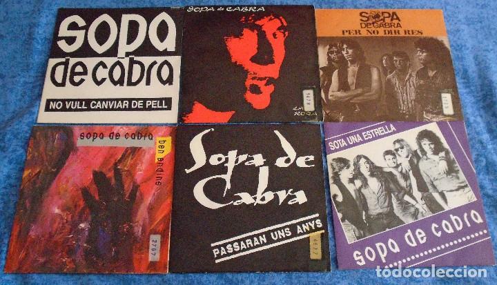 """GRAN LOTE 6 DISCOS SINGLES VINILOS 7"""" SOPA DE CABRA ROCK & ROLL CATALAN EN CATALÀ MUY BUEN ESTADO !! (Música - Discos - Singles Vinilo - Grupos Españoles de los 90 a la actualidad)"""