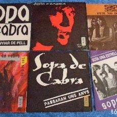 """Discos de vinilo: GRAN LOTE 6 DISCOS SINGLES VINILOS 7"""" SOPA DE CABRA ROCK & ROLL CATALAN EN CATALÀ MUY BUEN ESTADO !!. Lote 254561760"""