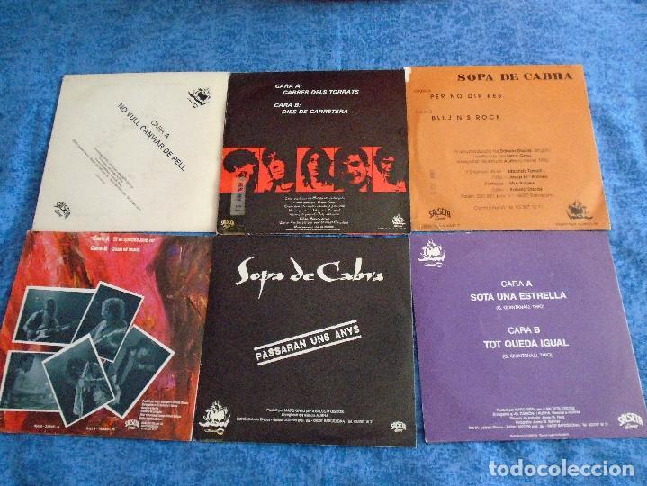 """Discos de vinilo: GRAN LOTE 6 DISCOS SINGLES VINILOS 7"""" SOPA DE CABRA ROCK & ROLL CATALAN EN CATALÀ MUY BUEN ESTADO !! - Foto 8 - 254561760"""