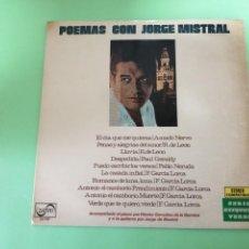 Discos de vinilo: POEMAS CON JORGE MISTRAL. Lote 254583795