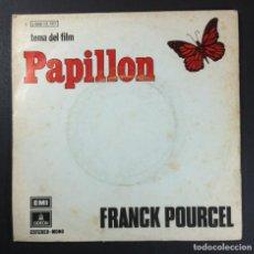 Discos de vinilo: FRANCK POURCEL - TEMA DEL FILM PAPILLON / BALLERINA - SINGLE 1974 - ODEON. Lote 254585320