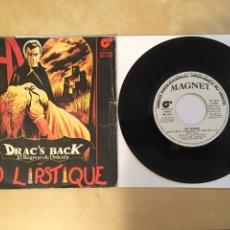 """Discos de vinilo: RED LIPSTIQUE - DRAC'S BACK (EL REGRESO DE DRACULA) - PROMO RADIO SINGLE 7"""" - 1982 SPAIN. Lote 254598085"""