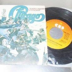 Discos de vinilo: CHICAGO -- QUIERO VOLVER A CHICAGO & POLICIA MINT M. Lote 254614410