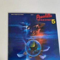 Discos de vinilo: PESADILLA EN ELM STREET 5 VINILO DE 1989 EN MUY ESTADO (3,33 ENVÍO CERTIFICADO). Lote 254621920