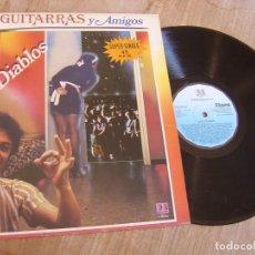 Discos de vinilo: LOS DIABLOS. -VINO, GUITARRAS Y AMIGOS- 1983. PROBADO. Lote 254623630