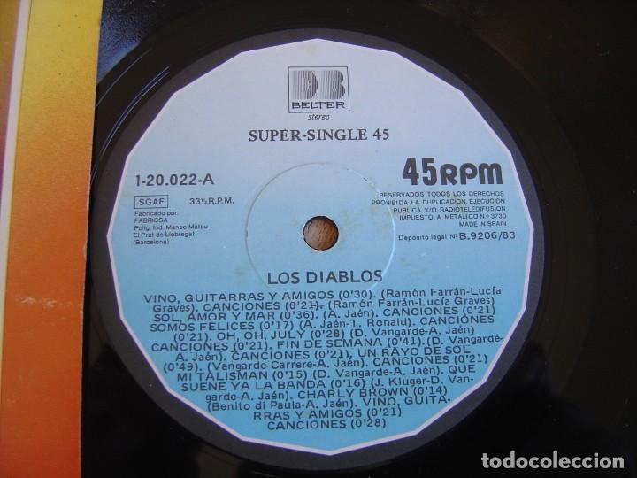 Discos de vinilo: LOS DIABLOS. -VINO, GUITARRAS Y AMIGOS- 1983. PROBADO - Foto 3 - 254623630