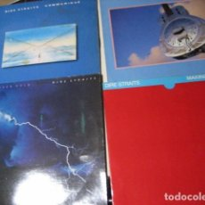 Discos de vinilo: DIRE STRAITS 4 DISCOS LOVE OVER GOLD COMMUNIQUE MAKING MOVIES BROTHERS IN ARMS. Lote 254627285