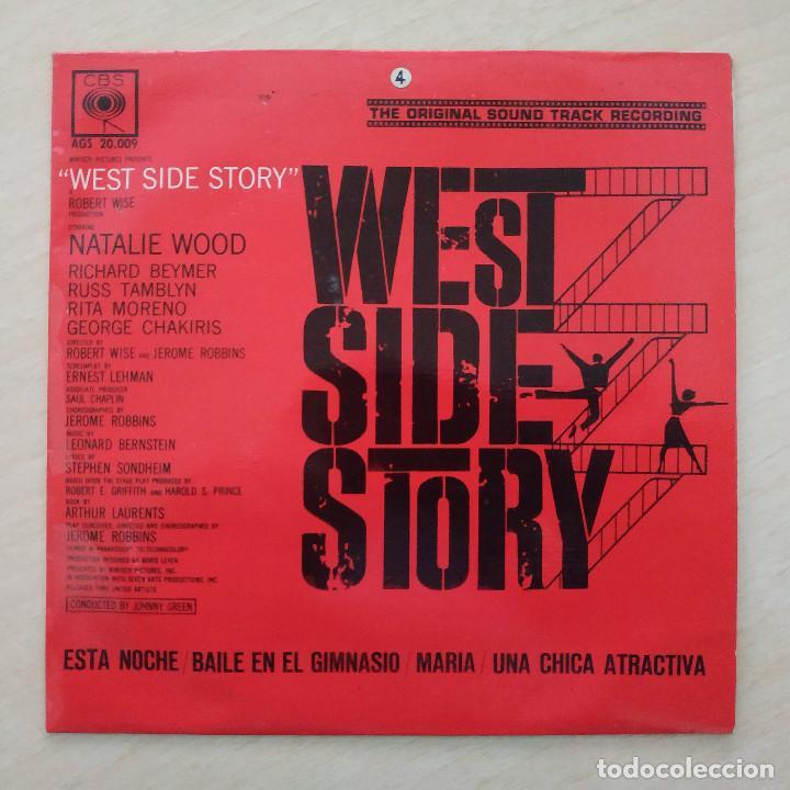 ORQUESTA JOHNNY GREEN - BANDA SONORA WEST SIDE STORY EP 4 CBS 1962 EDICION ESPAÑOLA EX. ESTADO (Música - Discos de Vinilo - EPs - Bandas Sonoras y Actores)