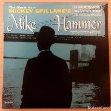 Discos de vinilo: THE MUSIC FROM MICKEY SPILLANE'S MIKE HAMMER SKIP MARTIN RCA VICTOR 1985 COMO NUEVO!!. Lote 254632515