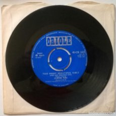 Discos de vinilo: CLINTON FORD. TOO MANY BEAUTIFUL GIRLS/ EVERYBODY'S DOING IT. ORIOLE, UK 1961 SINGLE. Lote 254635895
