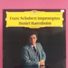 Discos de vinilo: FRANZ SCHUBERT: IMPROMPTUS, DANIEL BARENBOIM. Lote 254632945