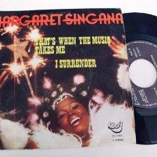 Discos de vinilo: MARGARET SINGANA-SINGLE THAT¨S WHEN.. Lote 254642615