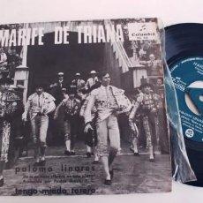 Discos de vinilo: MARIFE DE TRIANA-SINGLE PALOMO LINARES. Lote 254643660