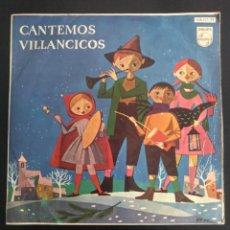 Discos de vinilo: CANTEMOS VILLANCICOS - POPULARES CON LAS LETRAS, (VERLAS LISTADAS)- PHILLIPS. Lote 254663340