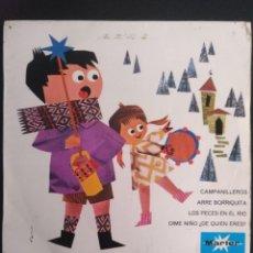 Discos de vinilo: LA ETERNA NAVIDAD. VOL.1.CORO INFANTIL LA TREPA (VER LISTADOS LOS VILLANCICOS) 1967. MARFER. ROJO. Lote 254664110