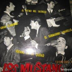 Discos de vinilo: LOS MUSTANG - SUBMARINO AMARILLO EP - ORIGINAL ESPAÑOL - EMI-ODEON 1966 MONOAURAL. Lote 254688130