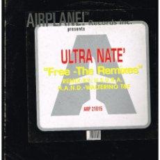 Discos de vinilo: ULTRA NATE - FREE (THE REMIXES) - MAXI SINGLE 1997 - ED. ITALIA. Lote 254690240