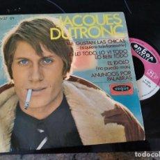 Discos de vinilo: JACQUES DUTRONC / ME GUSTAN LA CHICAS / EP 45 RPM / VOGUE HISPAVOX 1967 SPAIN. Lote 254699535