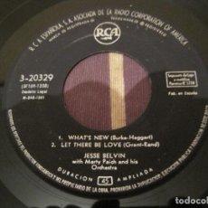 Discos de vinilo: EP JESSE BELVIN IT´S ALL RIGHT WITH ME RC 20329 SPAIN 1961 SIN PORTADA SOLO DISCO. Lote 254705435
