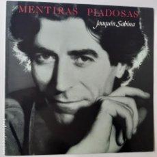 Discos de vinilo: JOAQUIN SABINA- MENTIRAS PIADOSAS - LP 1990 + ENCARTE - EXC. ESTADO.. Lote 254715990
