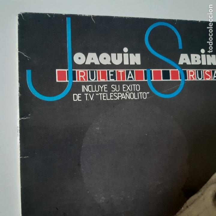 Discos de vinilo: JOAQUIN SABINA- RULETA RUSA - LP 1984- VINILO EXC. ESTADO. - Foto 2 - 254716655