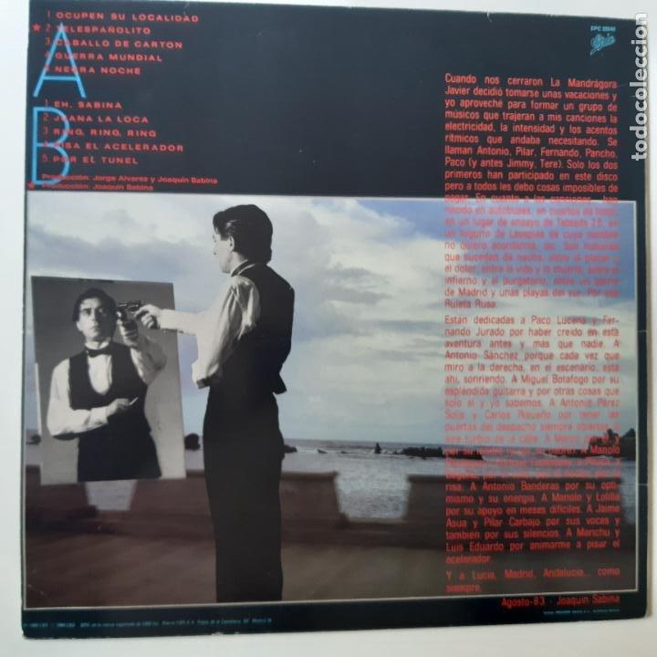 Discos de vinilo: JOAQUIN SABINA- RULETA RUSA - LP 1984- VINILO EXC. ESTADO. - Foto 7 - 254716655