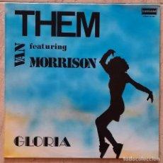 Discos de vinilo: THEM FEATURING VAN MORRISON – GLORIA LP, COMPILATION SPAIN 1989. Lote 254720635
