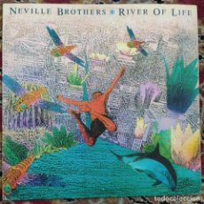 "Discos de vinilo: THE NEVILLE BROTHERS - RIVER OF LIFE (12"") (1990/UK). Lote 254728110"