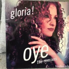 Discos de vinilo: GLORIA ESTEFAN . OYE . THE REMIXES . EDICIÓN INGLESA DE 1998. Lote 254729360