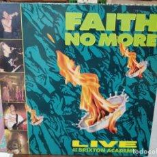 Discos de vinilo: FAITH NO MORE - LIVE AT THE BRIXTON ACADEMY - LP. SELLO LONDON RECORDINGS 1990. Lote 254730950