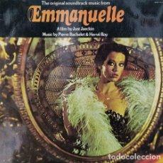 Discos de vinilo: EMMANUELLE BSO - BANDA SONORA ORIGINAL DE LA PELICULA - LP DE VINILO EDICION ESPAÑOLA. Lote 254731890