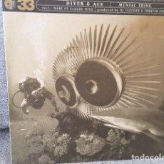Discos de vinilo: DIVER & ACE . MENTAL THING EDICIÓN ALEMANA DE 1998. Lote 254732470