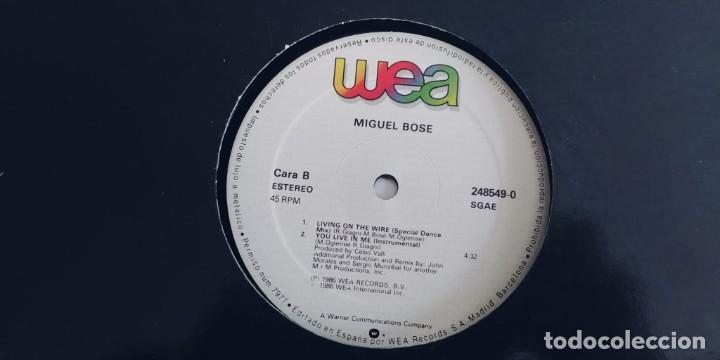 MIGUEL BOSE-MAXI YOU LIVE IN ME (Música - Discos de Vinilo - Maxi Singles - Solistas Españoles de los 70 a la actualidad)
