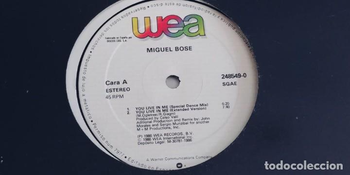 Discos de vinilo: MIGUEL BOSE-MAXI YOU LIVE IN ME - Foto 2 - 254745945