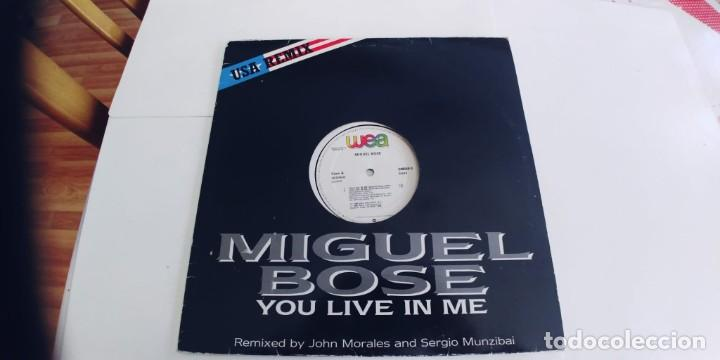 Discos de vinilo: MIGUEL BOSE-MAXI YOU LIVE IN ME - Foto 3 - 254745945