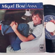 Discos de vinilo: MIGUEL BOSE-SINGLE ANNA. Lote 254746190